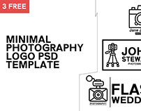 3 Free Minimal Photography Logo Template #1