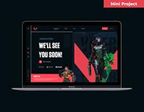 Valorant Hero Section UI Design Concept | Rish Designs