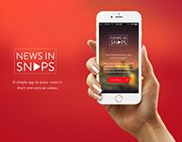 News In Snaps App UI Design
