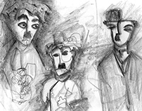 Charlie Chaplin's Freehand illustrations-Sketch