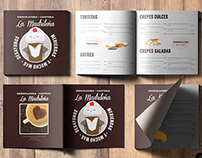 La Madrileña Menu design and illustrations