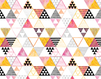 pink & yellow triangles