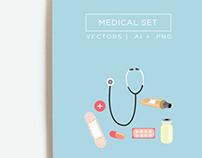 Medical Illustrations & Clip Art Set