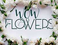 "Branding Flower Shop ""WOW FLOWERS"""