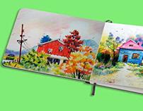 Sketchbook Mockup PSD Free Download