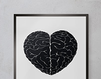 INTUITION / Heart's brain illustration