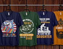 Fathers Day T-Shirt Design Bundle