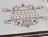 Murdock Mysteries 200th Episode Logo
