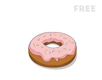 Free vector donut