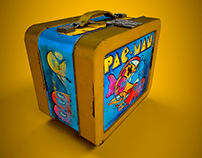 Quick Vintage Pacman lunchbox 3D Model