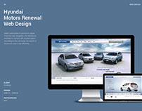 Hyundai Motors Renewal Web Design