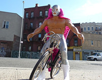 Mexican Wrestler in New York Photography