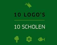 10 schools 10 logo's