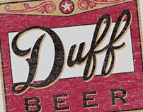 The Simpsons Duff Beer Vintage Tee