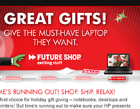 HP / Futureshop co-branded Christmas Email