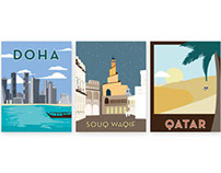 Doha, Qatar Travel Posters