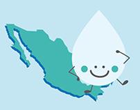 """Tríptico """"El Agua en México"""""""