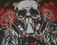 GRAFEENEY ORIGINAL SKULL & MASK STENCIL