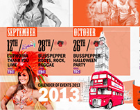 Busspepper / Euphoria 2013 Events Calender
