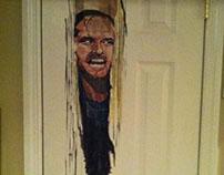 """""""The Shining"""" Painting on Bathroom Door"""