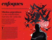 Ilustraciones Suplemento Enfoques, Diario La nación