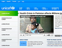 UNICEF (unicef.org) Multi-Platform Visual Design