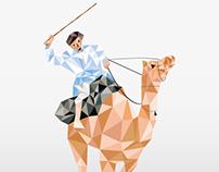 Illustration - Geometric bird