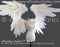 eProductSales ZEN  Feather Angel Wings for BJD DOLLS