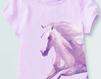 Watercolor Horse Girl Shirt