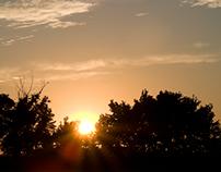 Sun goes down...