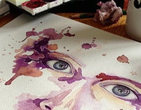 Face Watercolor Exercise #1