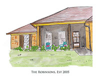 Custom Illustration for Wedding, family, home range