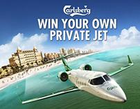 Carlsberg Learjet