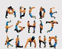 Luchador Alphabet