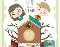 New Zealanders' time spending infographic