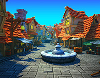 Pirate Village - Environment level - 3D Game Art design