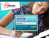 Landing Page - Adanote