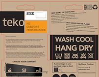 Concept Packaging for Teko Socks 2014