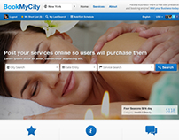 Website design for BookMyCity.com
