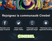 Newsletter et promo Cinebel.be