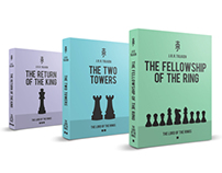 "J.R.R.Tolkien ""The Lord of the Rings"", Books Cover"