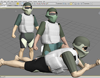 U.S. Soldier Body Armor Modeling, Fitting & Posing
