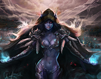 Sylvanas Windrunner for World of Warcraft Tribute Book