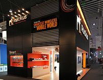 Ruckus Booth at Mobile World Congress, Barcelona 2013