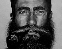 Long beard.