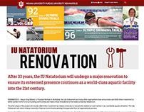 Indiana University Natatorium Renovation Website