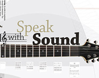 Speak with Sound - Typography Poster