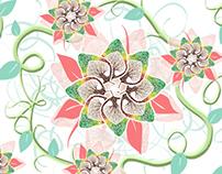 flower tree pattern