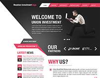 Reunion Investment Website Mockup
