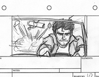 Car Chase Storyboards